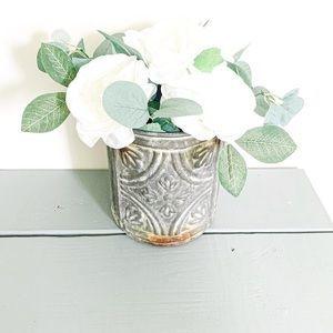 Tin Rustic Farmhouse Canister